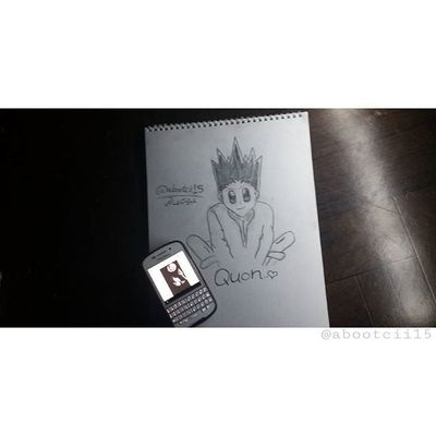 هذي الرسمه الثالثہ😘 Hunter × Hunter - الشخصيه البارزه بالخلاق وحب الأخرين والعزيمه والاصرار لما يريده هذا الأنمي آثر فيني كثير❤❤