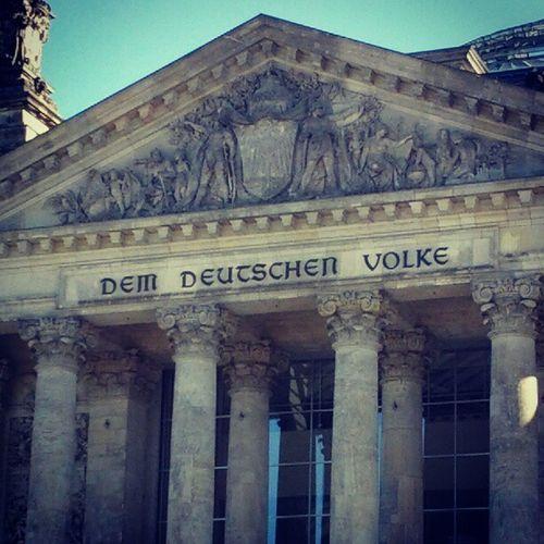 Berlin Germany Deutschland Reichstag Demdeutschenvolke