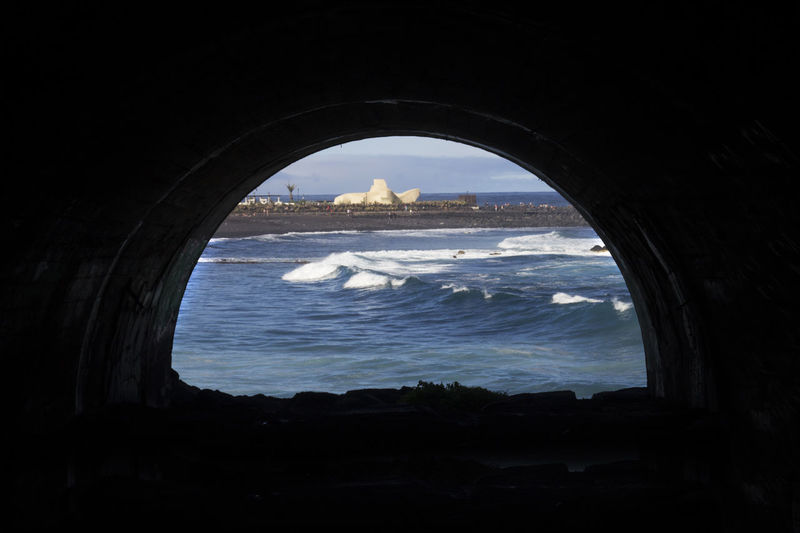 Ocean View OceanCity Oceanview Arch Architecture Built Structure Day Indoors  Nature No People Ocean Ocean Photography Oceanlife Sea Sky Tunnel Tunnel Of Light Tunnel View Tunnel Vision Tunnels Tunnelvision Water