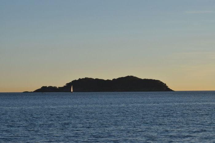L'Ile Verte Green Idyllic Ile Verte Island Mediterranean Sea Mountain Outdoors Provence Rock Scenics Sea Silhouette Sky Sunset Tranquility Water Windsurfing