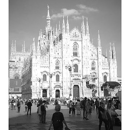 Large Group Of People Travel Destinations Place Of Worship Building Exterior Religion Spirituality Men City Life Outdoors Women Day City Architecture People Adult Adults Only Sky Crowd Cultures milano