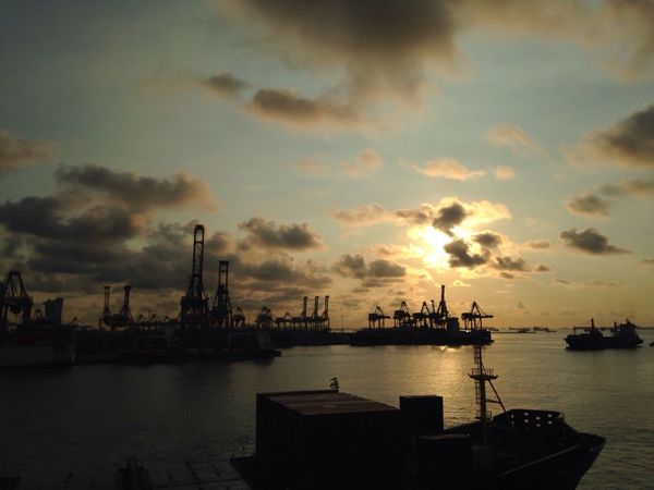 Brani Terminal Crane Iphone5C Singapore No Filter Good Morning