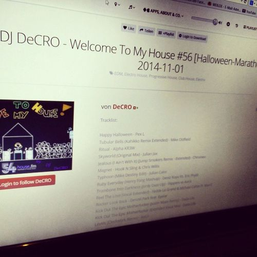 Latest set from saturday is up on hearthis.at/decro Halloween special with 3 hours packed with fine electro & progressive house. + FREE DL ON SITE! Go and grad it! Hearthis Dj Decro Wtmh electro progressive house music beats buttons fun fx loud louder radio 54house fm halloween set special dl download free