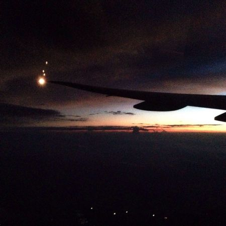 And the sun goes down From An Airplane Window Travelling Clouds And Sky EyeEm Best Shots - Sunsets + Sunrise