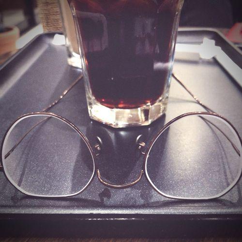 メガネ 遠近両用 アイスコーヒー 水出し 空間歪み