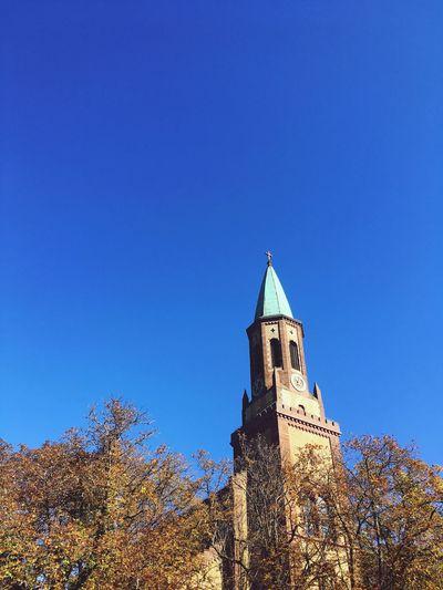 Sunny Blue Skyscraper Sky Himmelblau Himmel Turm Haus Freiburg Architecture Kirche Building Church