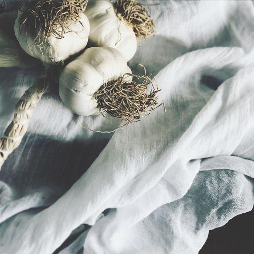 Close Up Of Garlic Fabric