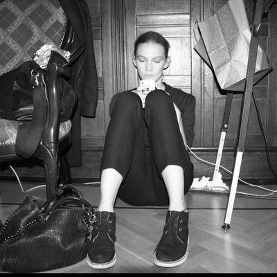 Backstage A LA RUSSE Anastasia Romantsova Alarusseofficial Alarusse Alarussecom Artemkrivda sofiashults fashion instafashion backstage fashionshow fall2014 moscow runway