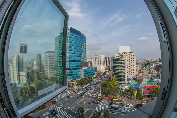 city, panorama, traffic, car, transport, building, architecture, seoul, south korea, asia, street, window, open, urban, motorway, metropolis, road, skyscraper, junction, cityscape, view, crossroad, highway, highrise, auto, sky, wide angle, horizontal Architecture Auto City City Life Day Horizontal Junction Metropolis Modern Open Open Edit Outdoors Panorama Road Sky Skyscraper South Korea South Korea🇰🇷 Street Traffic Transport