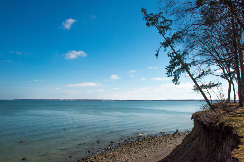 Brodtener Ufer Coastline Beach Beauty In Nature Blue Cliff Cloud - Sky Day Go-west-photography.com Horizon Horizon Over Water Land Nature No People Non-urban Scene Outdoors Plant Scenics - Nature Sea Sky Tranquil Scene Tranquility Tree Water