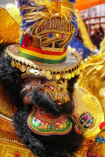 Close-up of religious sculpture