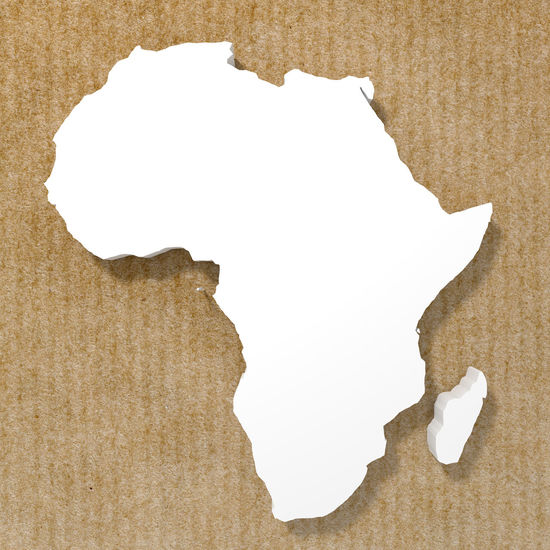 3d rendering of an african map over an old texture African Icon Map Travel Adventure Africa Background Concept Continent Crumpled Paper No People Paper Safari Animals Textured  Tropical White Color Wild