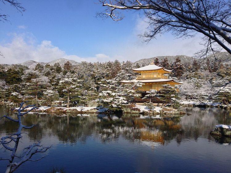 Kinkakuji temple in Kyoto January 2013 Snow Winter Beautiful Temple Japanese Culture Japan Kyoto, Japan Beautiful Garden