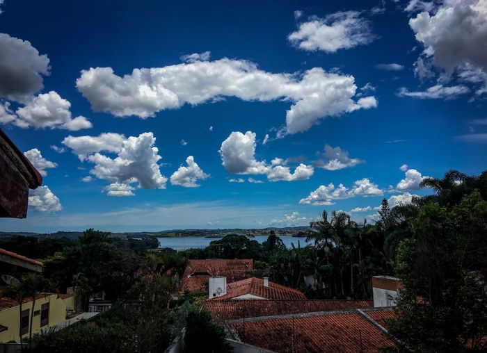 A view from the roof Cloud - Sky Sky Architecture Building Exterior Built Structure House No People Roof Day Town Blue Mountain Tree Nature Beauty In Nature Tiled Roof