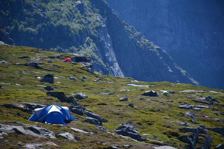 Tents On Mountain Peak