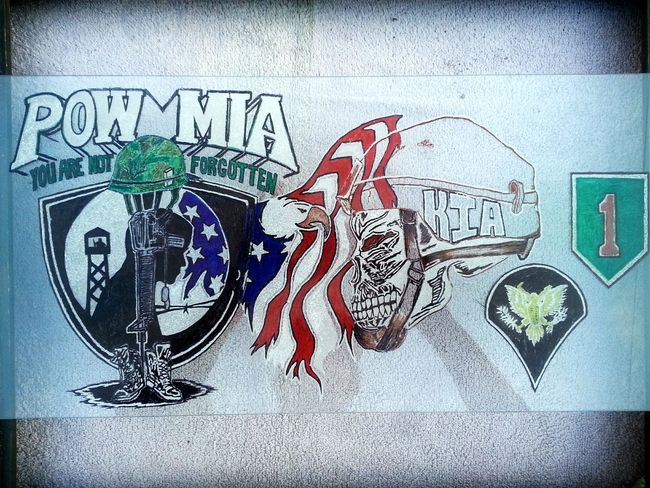 New art by me Artmash Art, Drawing, Creativity Militarylife CWO3 Color Oringinal Etching Glass Veteran Military ♥ Mia M-16 Pow