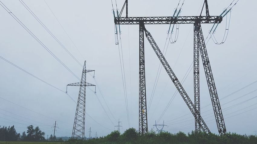 Cable Electricity  Connection Technology Electricity Pylon Power Line  Power Supply Fuel And Power Generation Day No People Outdoors Telephone Line Sky Rural Scene Telecommunications Equipment Nature Grass