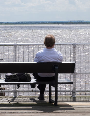 Bench Gazing Hull Hull City Of Culture 2017 Lunch Break Relaxing Gazing Out To Sea Humber Kingston Upon Hull Leisure Activity Looking One Person Outdoors Railing Real People Rear View Relaxed Sea Sea View Seated Water