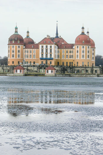 lake and castle Moritzburg in Saxony Castle Winter Day Lake Outdoors Travel Destinations