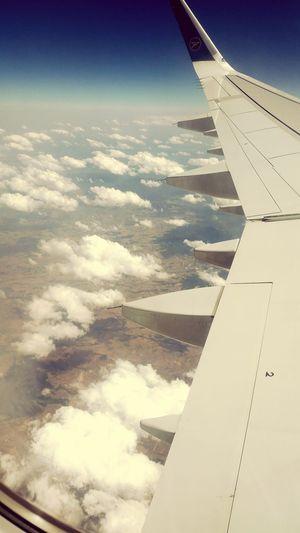 Aerial Shot über Den Wolken Muss Die Freiheit Wohl Grenzenlos Sein Over The Clouds View From An Airplane Window Holiday POV AirPlane ✈ Airplaneview Condor Airline Somewhere Over Spain The Traveler - 2015 EyeEm Awards