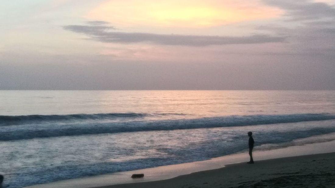 ESCAPE Sea Wave Sunset Beach Sand Reflection Sunlight Sun Idyllic Storm Cloud Dramatic Sky Seascape Moody Sky