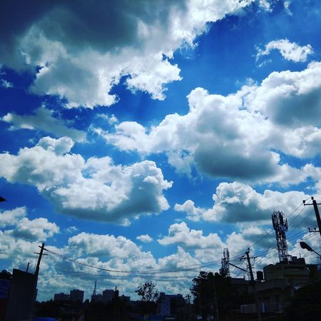 Cloud - Sky Outdoors No People Blue Nature Sky Day Roadsidephotography Minote4 Phonecamera