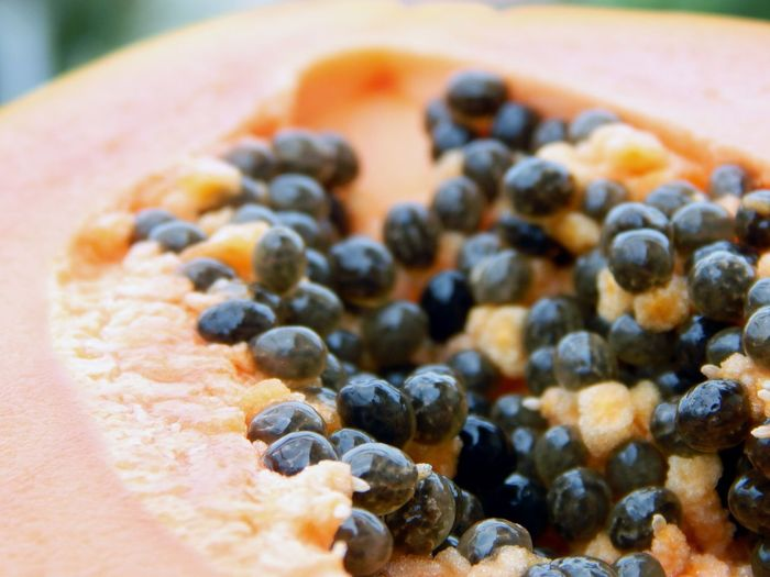 Abundance Close-up Detail Food Freshness Papaya Papaye PawPaw Ready-to-eat Seed