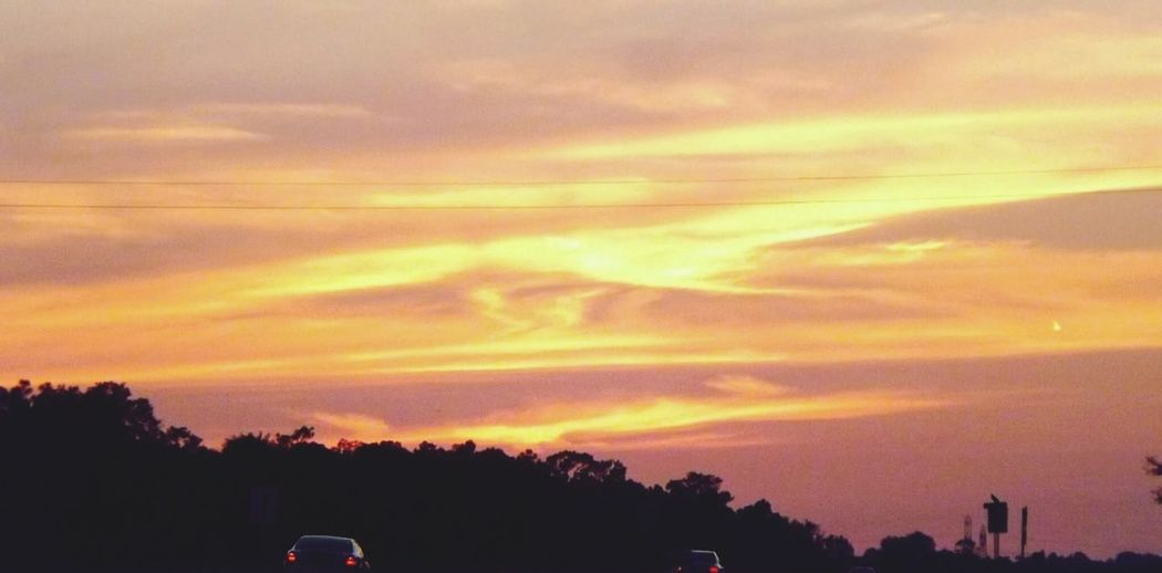 Onthe Road Sunset In Citrus County Florida Landscape Taking Pics While Driving