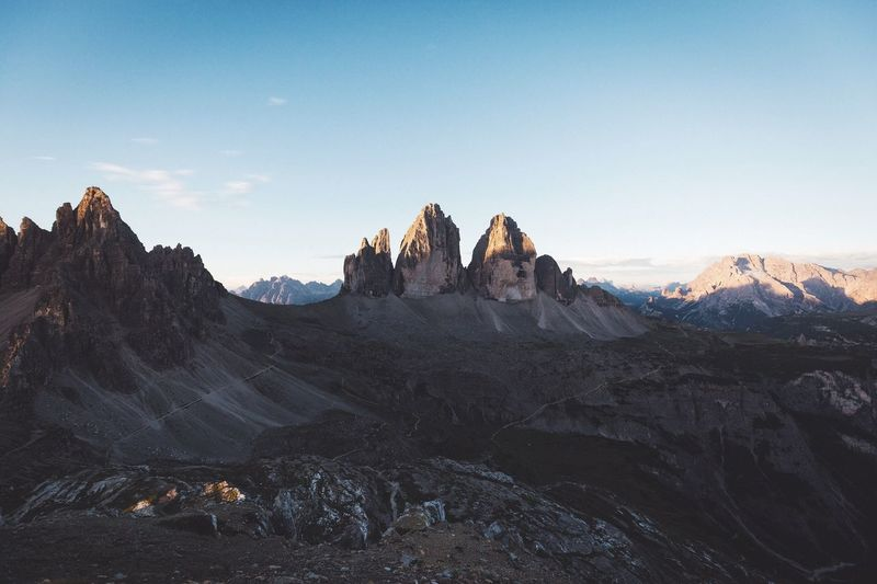 Panoramic shot of rocky mountain range