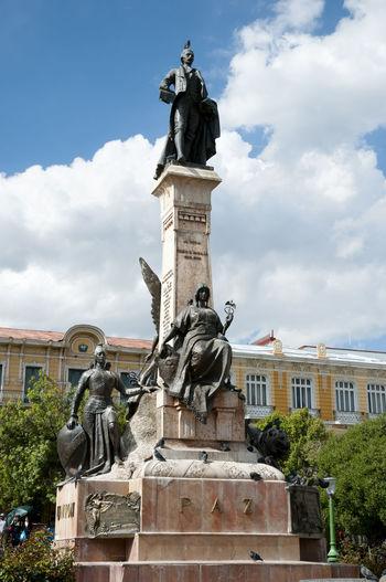 Pedro Murillo Statue - La Paz - Bolivia Bolivia La Paz Pedro Murillo Statue City Main Square Monument Sculpture Statue