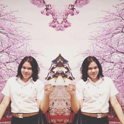 Sakura?? I'm feeling like real.? Self Portrait Enjoying Life That's Me in Chiang Rai