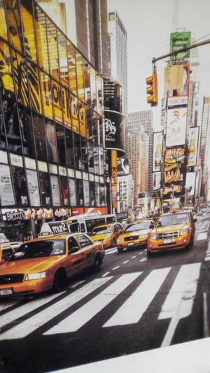 City Yellow Taxi Road City Life Text Architecture Building Exterior Built Structure