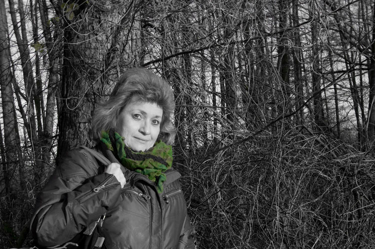 Autumn Walk Green Scarf Outdoors Showcase: November Woman Picturing Individuality Autumn It's Cold Outside Colorsplash