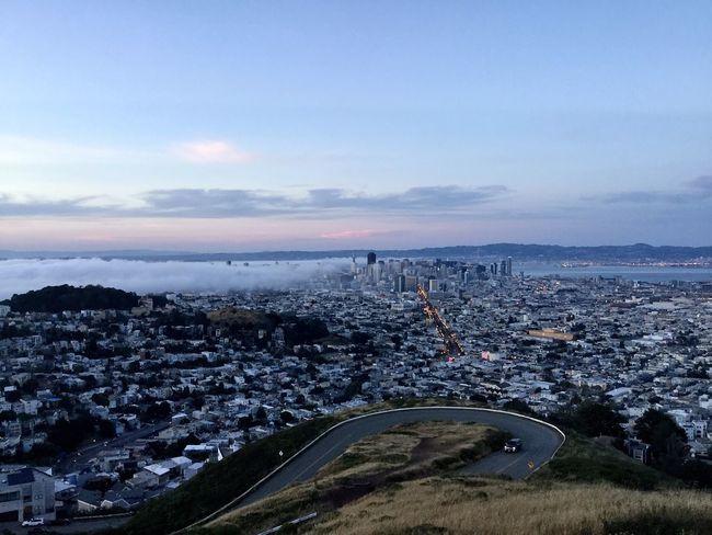 San Francisco Brouillard Gratte Ciel