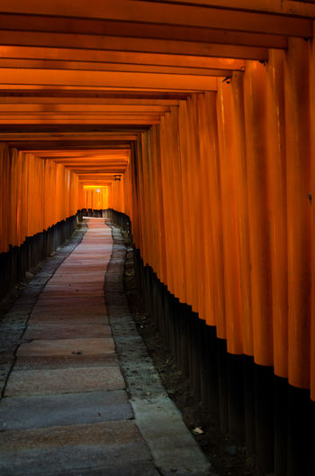 Inari Shrine Japan Architecture Culture In A Row Kyoto,japan Place Of Worship Spirituality