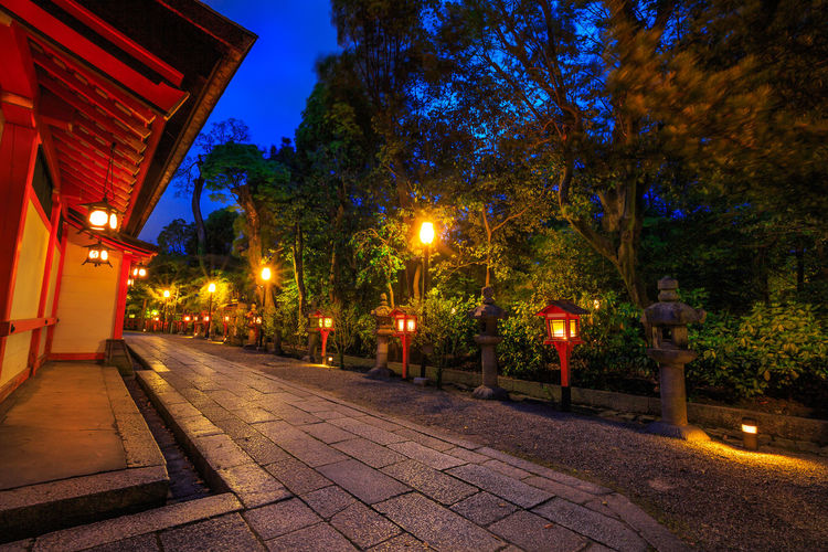 Illuminated path at night from the red lanterns leading from Yasaka Shrine to the Gion weeping cherry tree in Maruyama Park. Gion Shrine is one of the most famous shrines in Kyoto, Japan . Kyoto Kyoto,japan Kyoto, Japan Japan Temple Zen Buddist Temple Garden Tree Shrine Torii Gate Lake Garden Flowers Nature Meditation Japanese  Honden Yasaka Shrine Yasaka Pagoda Gion Shrine Gion Kyoto Higashiyama Pagoda Shinto Illuminated Night Architecture Plant Lighting Equipment Building Exterior Built Structure Street Dusk Footpath No People City Street Light Direction The Way Forward Outdoors Sign Building Light Paving Stone