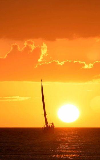 Sailboat Sail Boat Sailing Vessels And Sailors Sailboat Photography Boats And Water Ocean Photography Ocean Sunset  Ocean And Sky Sunset Silhouettes Sunset Sail Sailing Into The Sunset. Sailing! Vacation Florida Gulf Coast Florida Skies Sailing Trip Brilliant Sunshine Through Clouds Brilliant Light Brilliant Colors Brilliant Skies Orange Sunset Orange Sky Sailboat In Sunset EyeEmNewHere