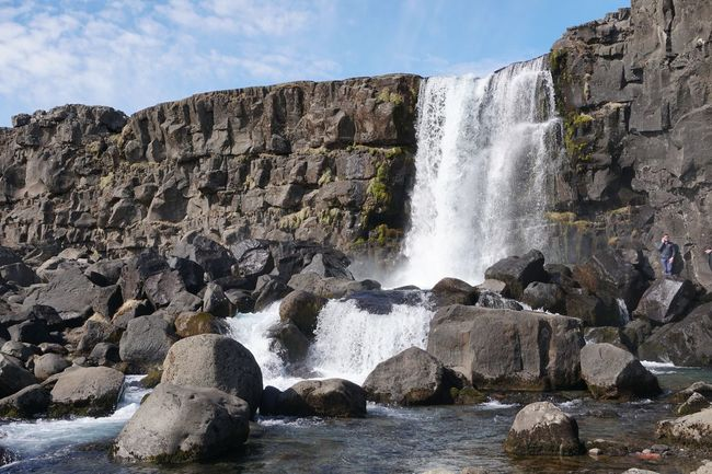 Thingvellir National Park Winter Adventure Beauty In Nature Crash Day Force Hitting Long Exposure Motion Nature No People Outdoors Pingvellir Power In Nature Rock Rock - Object Scenics Sky Water Waterfall