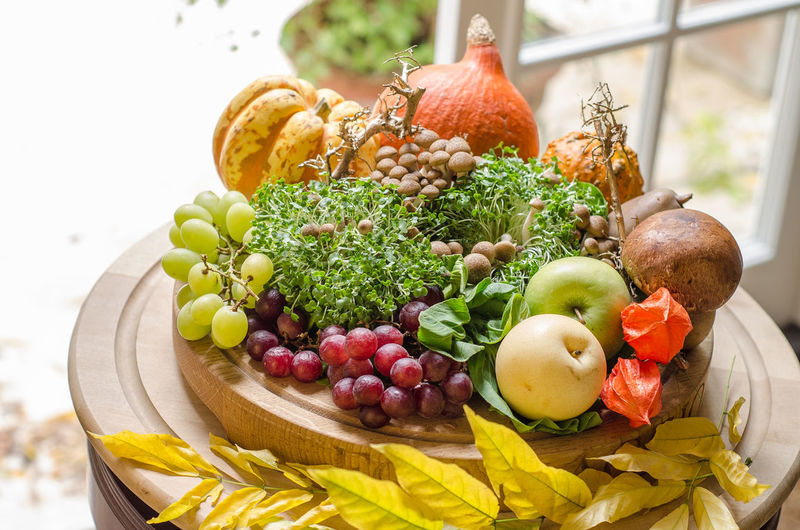 Autumn Autumn colors Food And Drink Herb Meal Temptation Food Foodphotography Fresh Freshness Garnish Healthy High Angle View Indoors  Indulgence Nature No People Organic Plate Ready-to-eat Serving Size Still Life Tabletop Warm Yummy