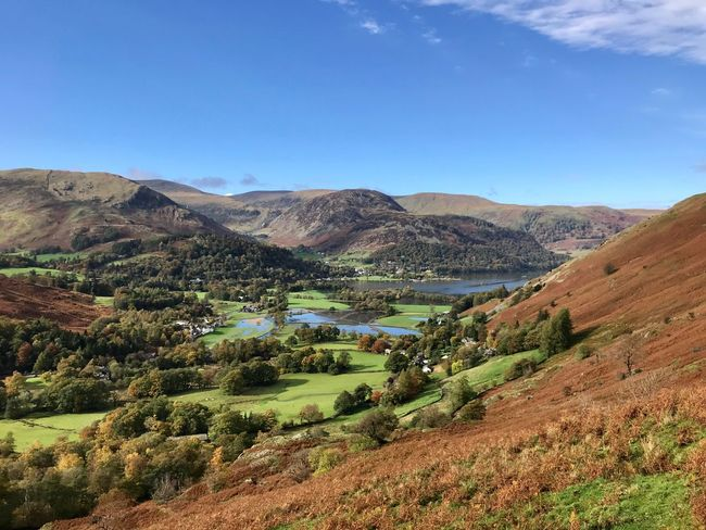 Looking back over Patterdale Landscape Sky Scenics - Nature Environment Mountain Tranquil Scene Beauty In Nature Tranquility Land Nature Field Agriculture Day Non-urban Scene Rural Scene Mountain Range