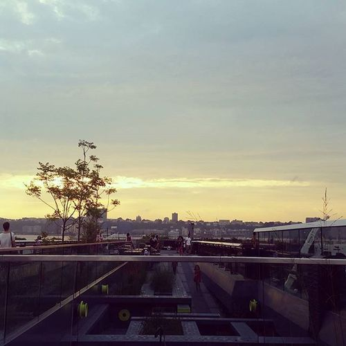 Welcome to the highline NYC Highline Sunset Afterrain Thingstodoinnyc Freethingstodoinnyc NYCHighLine Viewfromhighline Newyork_instagram