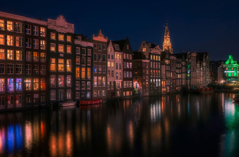 Remo SCarfo Apartment Architecture Building Building Exterior Built Structure City Dusk Dutch Dutch Landscape Holland Illuminated Multi Colored Nature Night No People Outdoors Reflection Residential District River Row House Sky Travel Destinations Water Waterfront