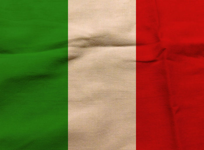 Italian flag Backgrounds Close-up Day Fabric Full Frame Italy Italy Flag Nation No People Rome Rome Italy State Textile