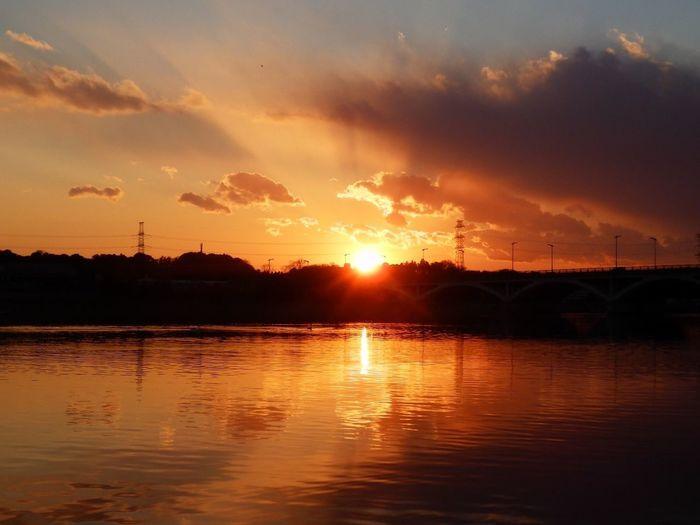 今日の手賀沼の夕景です。ここのところ重いカメラは持って歩けないので、コンデジです(^^;;