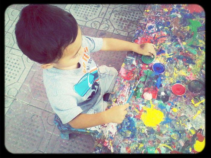 Mi Bb Hermoso:-)    Mi Pintor Hermoso Proximo Picasso :)