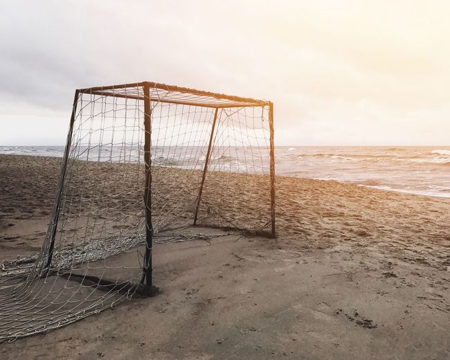 Football Football Fever Beach Beach Soccer  Beach Volleyball Beachlife Beauty In Nature Day Goal Post Horizon Over Water Nature Net - Sports Equipment No People Outdoors Sand Scenics Sea Sky Soccer Soccer Field Sport Tranquility Water