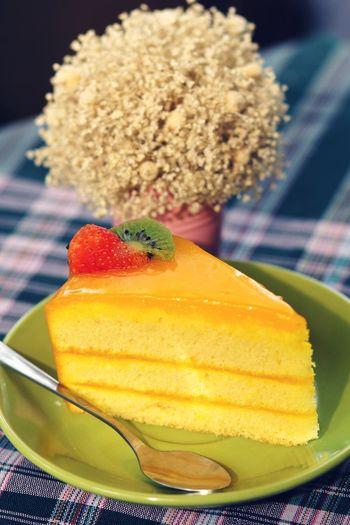 orange cake on