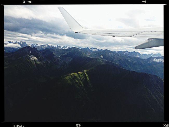 From An Airplane Window The Alps Transavia