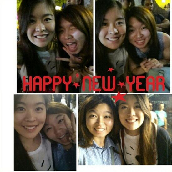 Goodbye 2013, Hello 2014! Last four hours of 2013 and spent my first new year with her :) 2014 Nyesyd Brandnewstart Firsts goodbye2013 bffls leggo