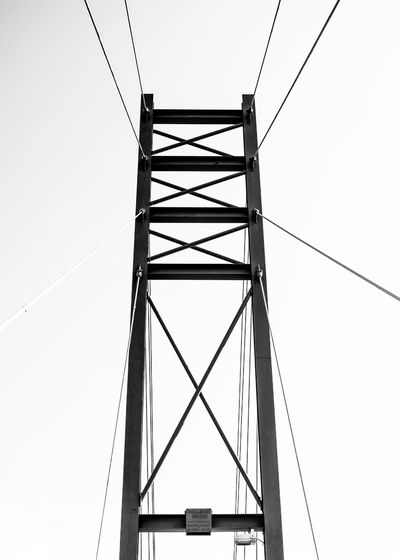 suspension bridge Bridge Bridge - Man Made Structure Blackandwhite Drastic Edit Golf Club Electricity Pylon Cable Electricity  Telephone Line Fuel And Power Generation Business Finance And Industry Sky